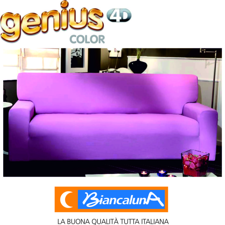 Copri divano genius color altri colori de vivo napoli for Divano quattro posti